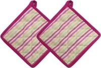 Cotonex Pink Cotton Kitchen Linen Set(Pack of 2)