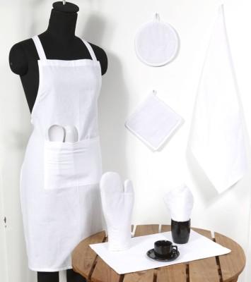 Ocean Homestore White Cotton Kitchen Linen Set(Pack of 14) at flipkart