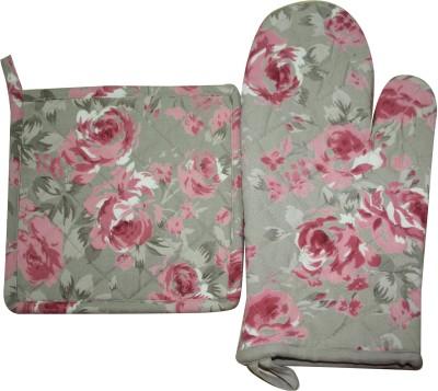 Morning Blossom Multicolor Cotton Kitchen Linen Set