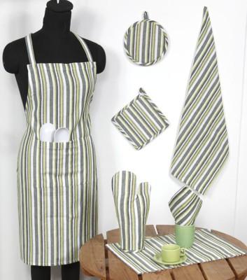 Ocean Homestore Green Cotton Kitchen Linen Set(Pack of 14) at flipkart