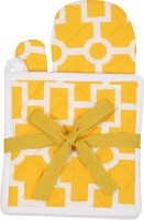 Mia Yellow Cotton Kitchen Linen Set(Pack of 3)