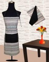 URBAN-TRENDZ Black Cotton Kitchen Linen Set(Pack of 3)