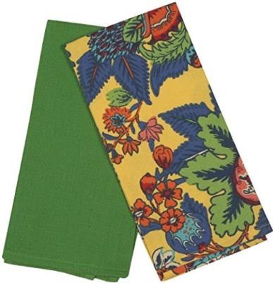 CPM HANDLOOM Yellow, Green Cotton Kitchen Linen Set