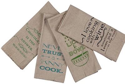 London Lady Grey Cotton Kitchen Linen Set