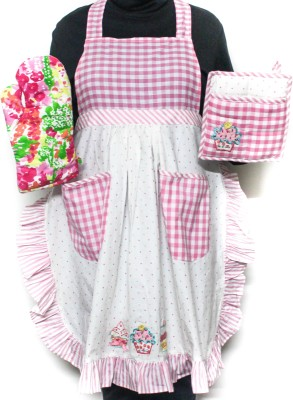Barkat Pink, Multicolor Cotton Kitchen Linen Set