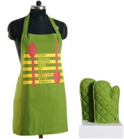 Swayam Green Cotton Kitchen Linen Set(Pack of 3)