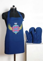 Swayam Blue Cotton Kitchen Linen Set(Pack of 3)