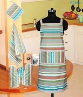 Dekor World Green Cotton Kitchen Linen Set(Pack of 4)