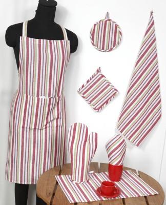 Ocean Homestore Pink Cotton Kitchen Linen Set(Pack of 14) at flipkart