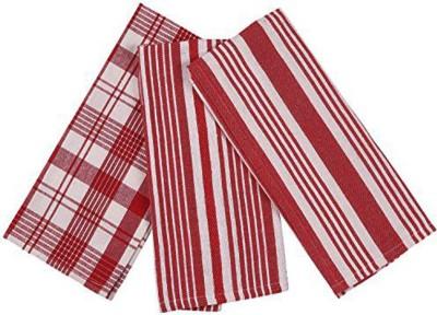 London Lady Red Cotton Kitchen Linen Set