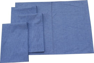MetroFabrics Blue Cotton Kitchen Linen Set
