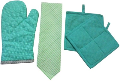 Tidy Green Cotton Kitchen Linen Set