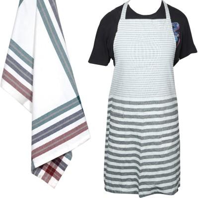 JASS HOME DECOR White Cotton Kitchen Linen Set