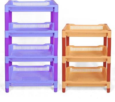 NAVKAR-CP Plastic Kitchen Rack(Blue, Yellow)