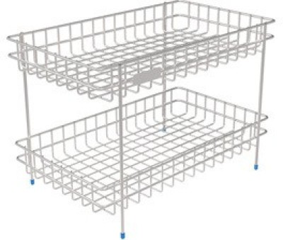 saffron S.S VEGETABLES STAND-DOUBLE Stainless Steel Kitchen Rack