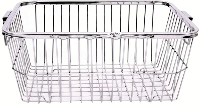 Zecado utensil basket 1 (Square Pipe Top) Basket size 19inch X 14inch X 8inch Stainless Steel Kitchen Rack