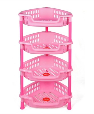 NAVKAR-CP Plastic Kitchen Rack(Pink)