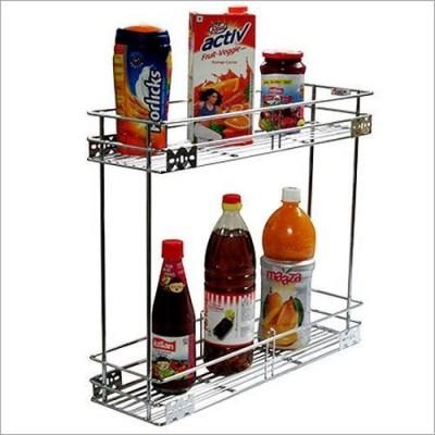 RBJ Stainless Steel Multipurpose Kitchen Corner Shelf Stainless Steel Kitchen Rack