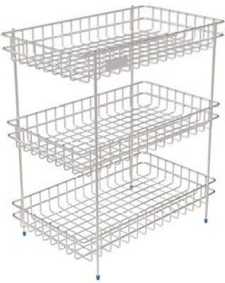 SAFFRON S.S VEGETABLES STAND-TRIPLE Stainless Steel Kitchen Rack