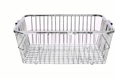 Zecado Utensil Basket 3 (Square Pipe Top) Basket size 24inch X 18inch X 8inch Stainless Steel Kitchen Rack