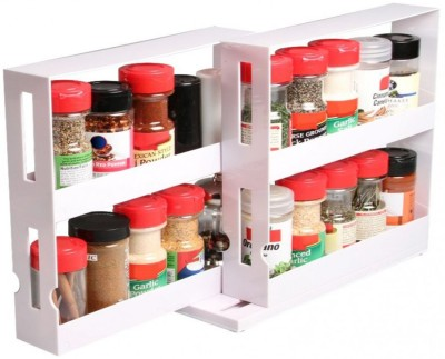 Shopper52 Plastic Kitchen Rack(White) at flipkart