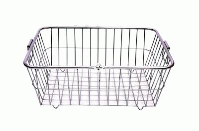 Zecado Utensil Basket 1 (Round Pipe Top) Basket size 20inch X 15inch X 8inch Stainless Steel Kitchen Rack