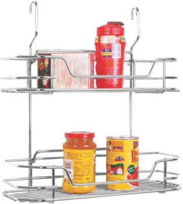 Klaxon Hanging Special Rack with 2 shelves Stainless Steel Kitchen Rack(Silver)