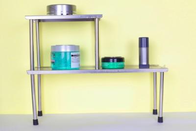Pearl Multifunction Rack Steel Kitchen Rack(Grey)