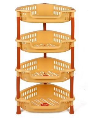 NAVKAR-CP Plastic Kitchen Rack(Yellow)