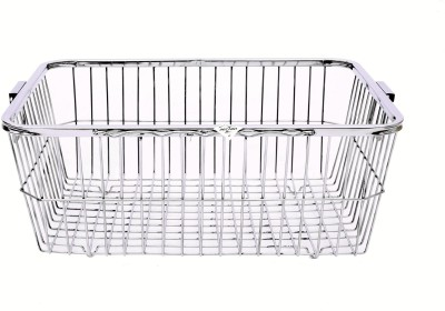 Zecado Utensil Basket 2 (Square Pipe Top) Basket size 21inch X 16inch X 8inch Stainless Steel Kitchen Rack
