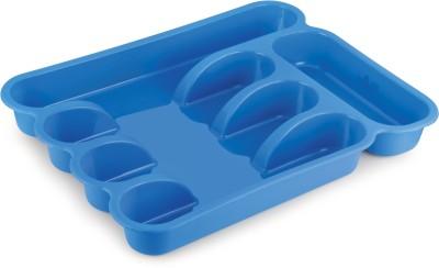 Bonita Helena Cutlery Tray Plastic Kitchen Rack(Blue)
