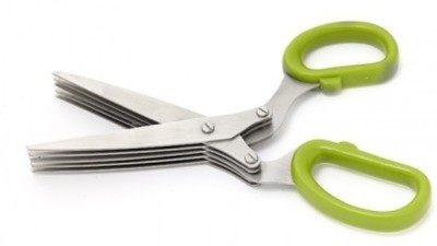Navyamall Multifunction 5 Blade Kitchen & Packing Stainless Steel All-Purpose Scissor