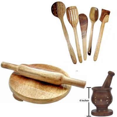 THW WDNCBSET09-U Brown Kitchen Tool Set