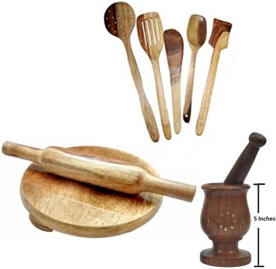 THW WDNCBSET09-V Brown Kitchen Tool Set