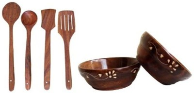 Onlineshoppee AFR2282 Brown Kitchen Tool Set