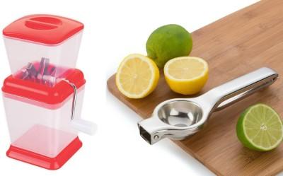 Medex Onion Vegetable Chopper & Lemon Squeezer Multi Color Kitchen Tool Set
