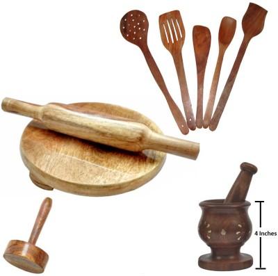 THW WDNCBSET10-R Brown Kitchen Tool Set