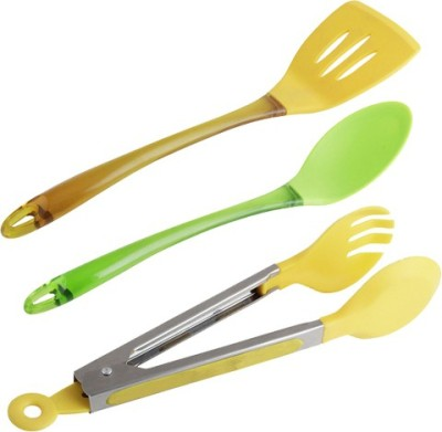 Curie Ladle & Tong Set 2 Yellow, Green Kitchen Tool Set