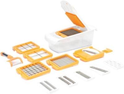 VR 12 In 1 - Orange Orange, White Kitchen Tool Set(Vegetable Unbreakable 12 In 1)
