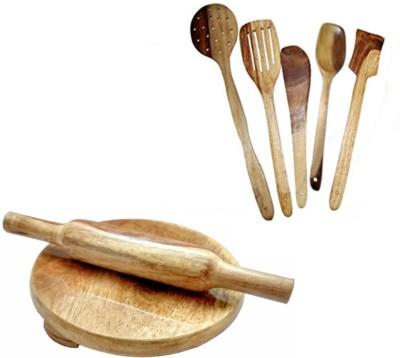 THW WDNCBSET07-S Brown Kitchen Tool Set
