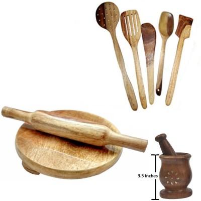 THW WDNCBSET09-T Brown Kitchen Tool Set