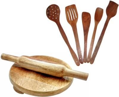 THW WDNCBSET07-J Brown Kitchen Tool Set