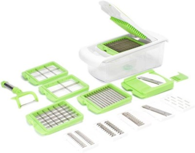 VR 12 In 1 - Green Green, White Kitchen Tool Set(Vegetable Unbreakable 12 In 1)