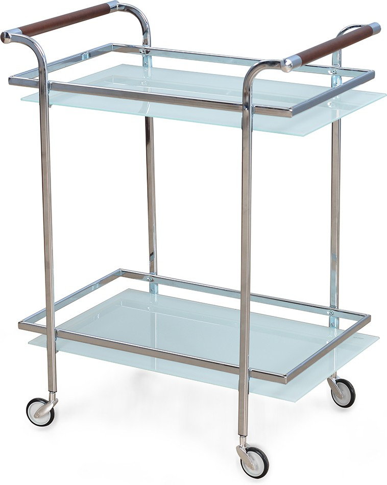 @home by Nilkamal Abelia Carbon Steel Kitchen Trolley class=