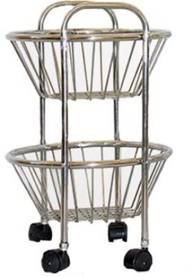 Anmol Round Stainless Steel Kitchen Trolley