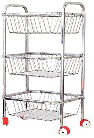 View Royal Sapphire Stainless Steel Kitchen Trolley Furniture (Royal Sapphire)