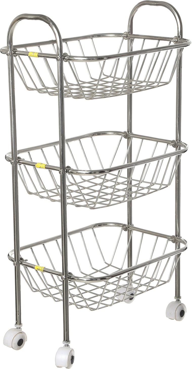 View SHREE SINGHAL Three shelves Stainless Steel Kitchen Trolley Furniture (SHREE SINGHAL)