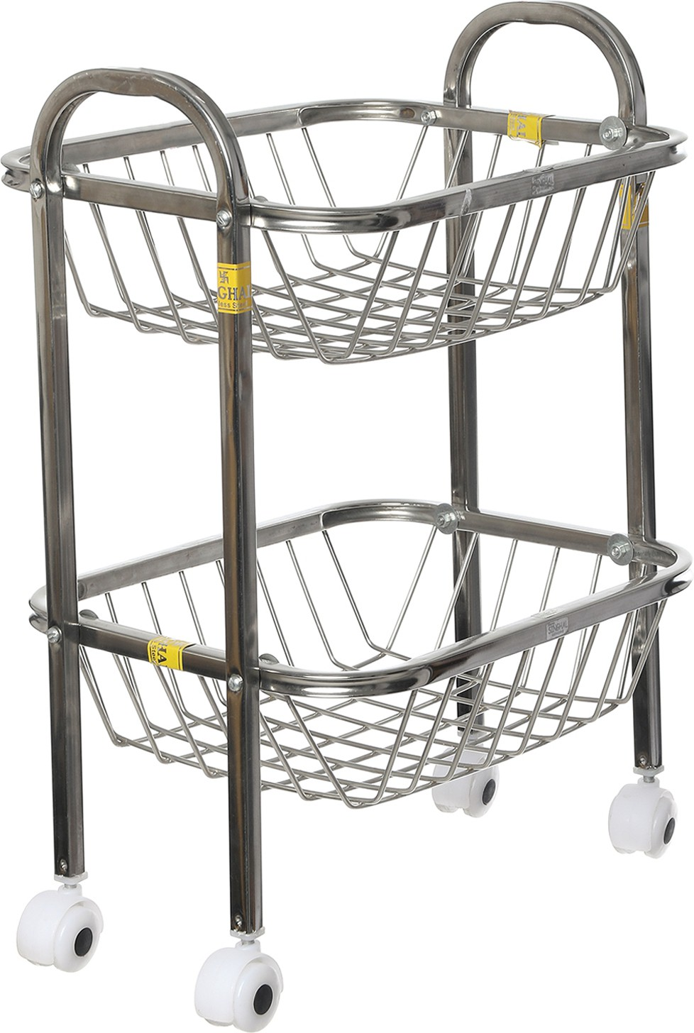 View SHREE SINGHAL Two shelves Stainless Steel Kitchen Trolley Furniture (SHREE SINGHAL)