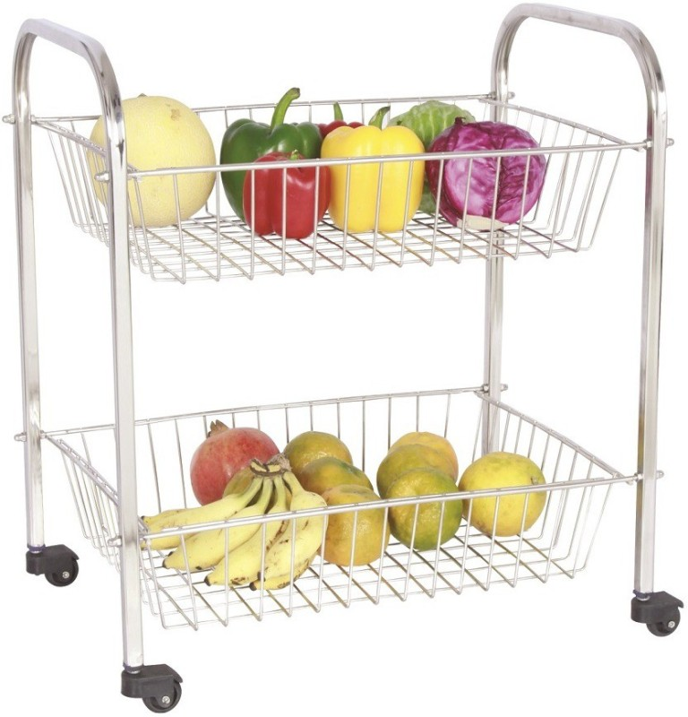 Amol Stainless Steel Kitchen Trolley