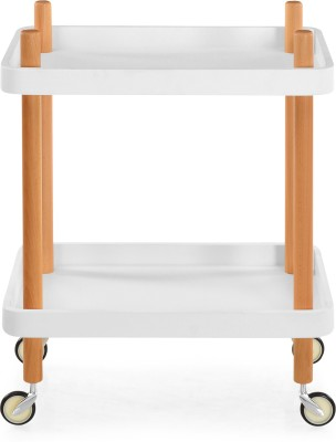 @home by Nilkamal Prima Wooden Kitchen Trolley